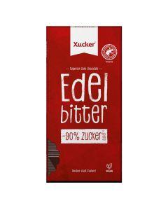 Vegane Edelbitter-Schokolade mit Xylit  (80g)