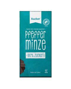 Vegane Edelbitter-Schokolade Pfefferminze  (80g)